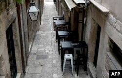 Prazni ugostiteljski objekti tokom pandemije, Dubrovnik 2020