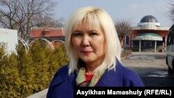 Осужденная казахстанская активистка Санавар Закирова.