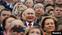 Президент Росії Володимир Путін на святкуванні Дня Москви, 10 вересня 2016 року