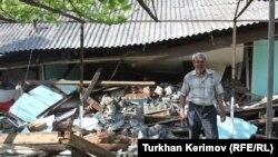 Azərbaycan, Zaqatala rayonu zəlzələdən zərərçəkən evlər, 10 may 2012