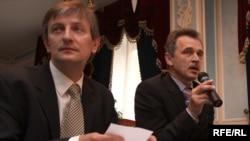 Яраслаў Раманчук і Анатоль Лябедзька