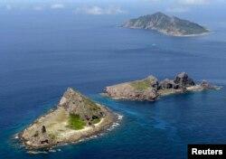 Острова Сенкаку в Восточно-Китайском море, предмет территориального спора между Китаем и Японией