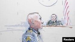 Rreshteri Robert Bales në skicën e gjykatës.
