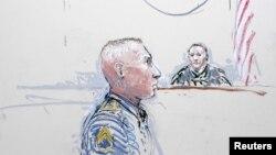 Robert Bales në skicën e gjykatës.