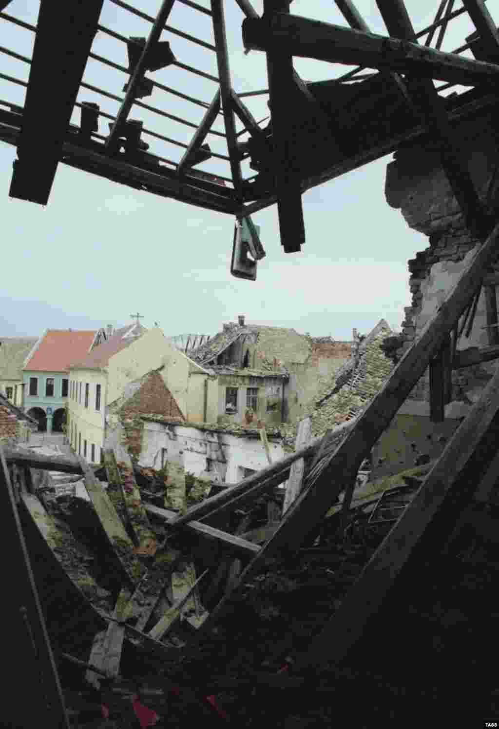 Vukovar after repeated shelling. May 1, 1993.