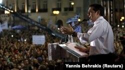 Alexis Tsipras, la mitingul anti-austeritate de la Atena, 3 iulie 2015