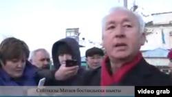 СейтказиМатаєв після звільнення з в'язниці, 4 грудня 2017 року