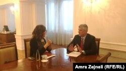 Amra Zejneli, novinarka RSE u razgovoru sa kosovskim predsjednikom Hašimom Tačijem