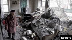 На місці одного з обстрілів у Донецьку 30 січня 2015 року