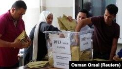 Избирательный участок в Стамбуле, 24 июня 2018 года