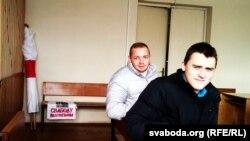 Аляксей Кішчук (зьлева) і Станіслаў Лаўрэнаў