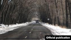 Հայաստանի ճանապարհներից մեկը ձմռանը, արխիվ