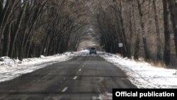 Հայաստանի ավտոմայրուղիներից մեկը ձմռանը, արխիվ