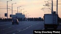 Нерӯҳои зиддиошӯби Беларус дар кӯчаи Минск, 10 августи соли 2020