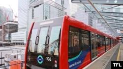 Pamje e një treni të metros së Londrës