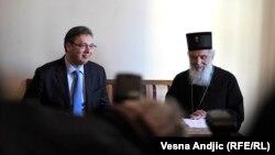 Aleksandar Vučić i patrijarh Irinej, arhiv