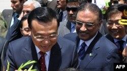 Kryeministri i Kinës, Li Keqiang, dhe presidenti i Pakistanit, Asif Ali Zardari.