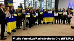 Флешмоб на підтримку України в Європейському парламенті, Брюсель, 1 березня 2017 року