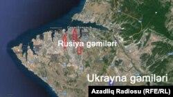 План дислокации российских и украинских морпехов в Севастополе
