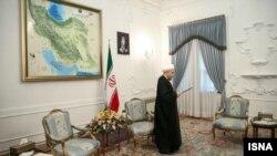Hassan Rohani gjatë një fjalimi të sotëm në presidencë