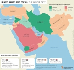 INFOGRAPHIC: Iran's Allies And Foes In The Middle East