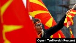 Foto ilustruese - Protestat në Shkup kundër ndryshimit të emrit