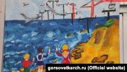 Один из детских рисунков, представленных на выставке «Свет в родном доме» в Керчи