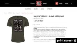 """Majica sa Arkanoviv """"Tigrovima"""""""