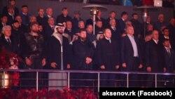 Сергей Аксенов с руководством Чечни на праздновании дня города Грозный, октябрь 2017 года