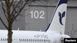 ایرباس ای ۳۲۱ که به تازگی تحویل ایران داده شده است