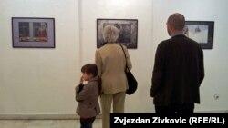 Sa izložbe Zorana Lešića u Sarajevu