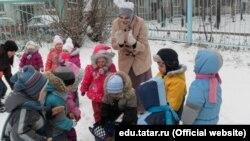 Казанның 184нче татар балалар бакчасында Беренче кар бәйрәме