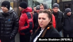 Светлана Курицына на Болотной площади в Москве