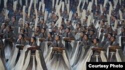 Пекин. Фрагмент церемонии открытия Олимпийских игр. 8 августа 2008