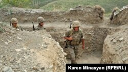 Nagorno-Karabakh -- Armenian soldiers on frontline duty in northeastern Karabakh, 20Jul2012.