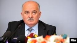 Прес-конференција на Јавниот обвинител Марко Зврлевски во Скопје.