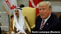 دیدار ترمپ با امیر کویت