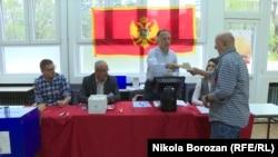 Избирательный участок в Подгорице, 15 апреля 2018