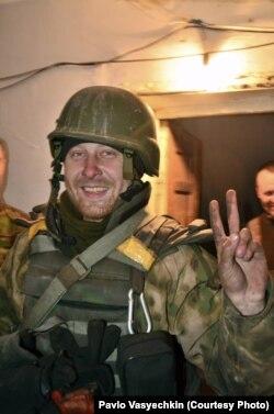 Павло Васєчкін одразу після ротації з ДАП. 15 грудня 2014 року