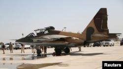 هواپیمای سوخوی ۲۵ که گفته میشود توسط ایران به عراق تحویل داده شده است.