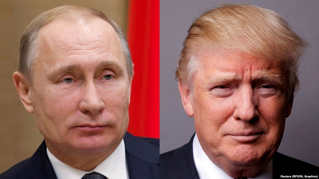 Russian President Vladimir Putin (left) thanked U.S. President Donald Trump in a December 17 telephone call.