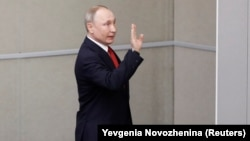 Vladimir Putin în Duma de la Moscova
