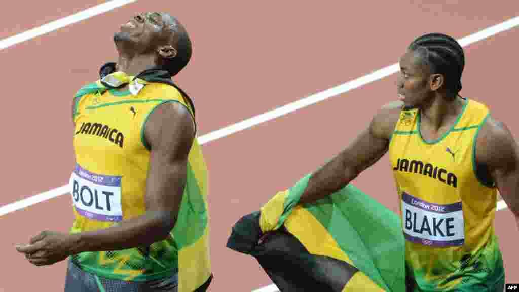 Usain Bolt i Yohan Blake osvojili su zlato i srebro na OI London, 5. august 2012.