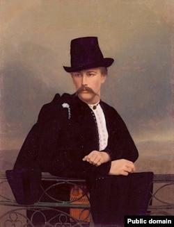 Ось так виглядав Василь Тарновський-молодший, якому замість крашанки на Великдень 1860 року Тарас Шевченко подарував свій фотопортрет (А. Горонович, олія, 1860-і роки)