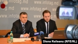 Igor Boțan și Petru Culeac la prezentarea rezultatelor evaluării ADEPT