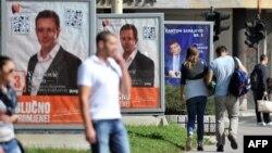 Sarajeva gjatë fushatës për zgjedhjet e 12 tetorit ...