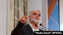Саидумар Хусайни, заместитель председателя запрещенной в Таджикистане Партии исламского возрождения (ПИВТ).