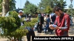 Izbeglice u parku u Beogradu, foto: Aleksandar Pavlović