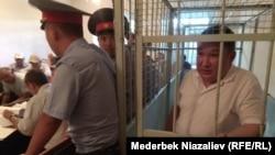 Мелис Калыков в зале суда.