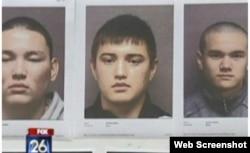 Подозреваемые в краже колес с машин в США Темирлан Кантай, Ержигит Серикбай и Нурбол Танатов.